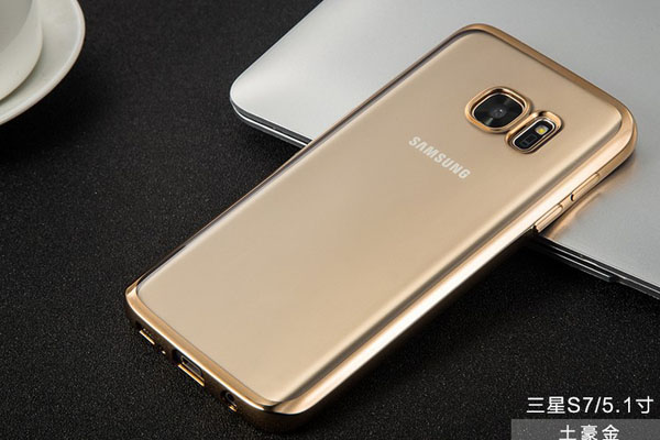 Electroplated clear TPU soft case for Samsung S7 S7 edge