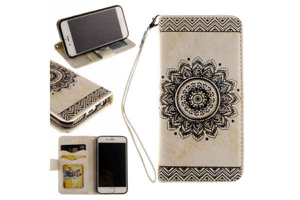 Mandala leather cover for iPhone 6