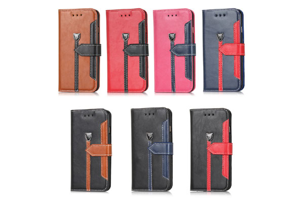 iphone6 leather case with two color