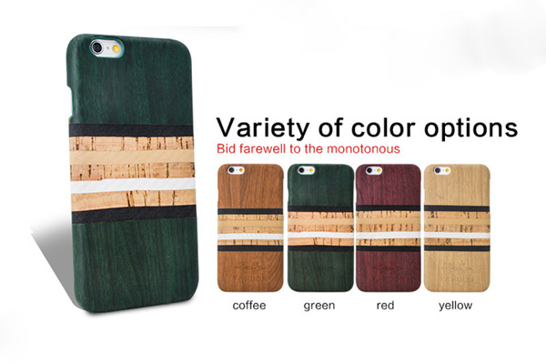 Wooden color PU leather back cover