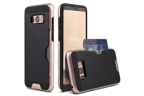 Galaxy S8 credit card slot case