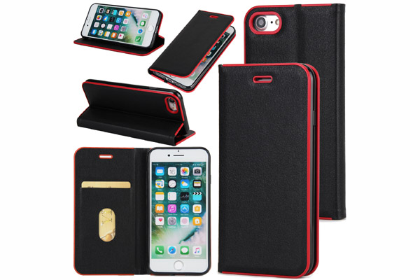 Premium magnet leather cover for iphone 7