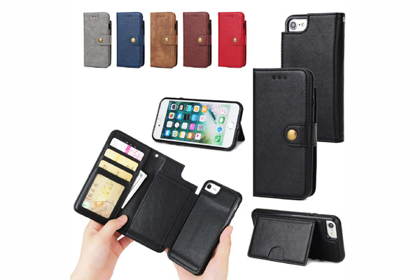 2 IN 1 Wallet leather case for iphone 7