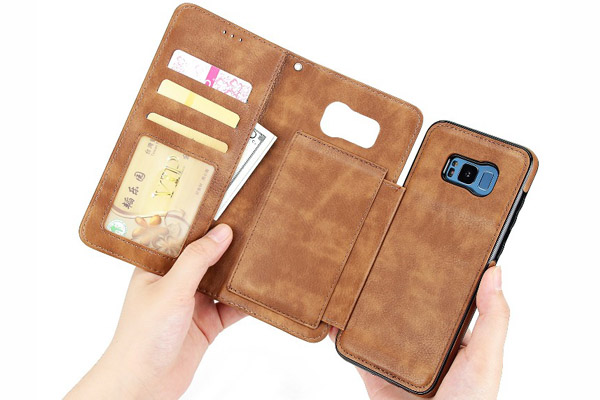 2 IN 1 Wallet leather cover for Samsung S8 S8 Plus