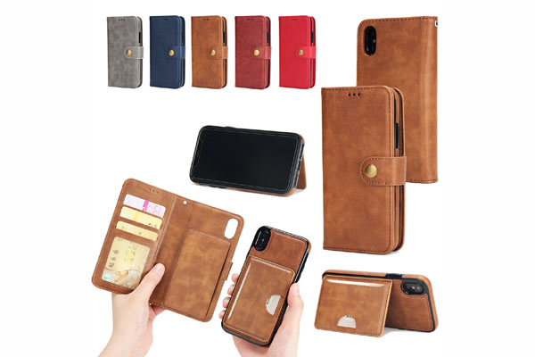 iPhone X seperable wallet leather case