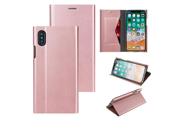 Full cover curved edge magnet leather cover
