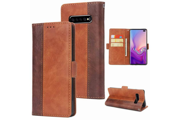Samsung S10/S10 Plus/S10e Dual Color Leather Cover
