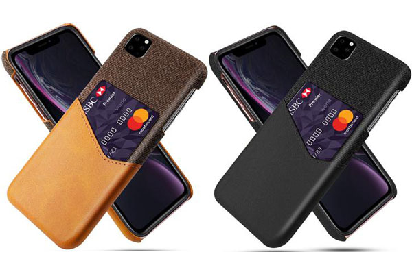 Card Slot Leather Back Cover for New iPhone 5.8'' 6.1'' 6.5''  2019